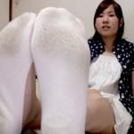 足型が見えるような靴下